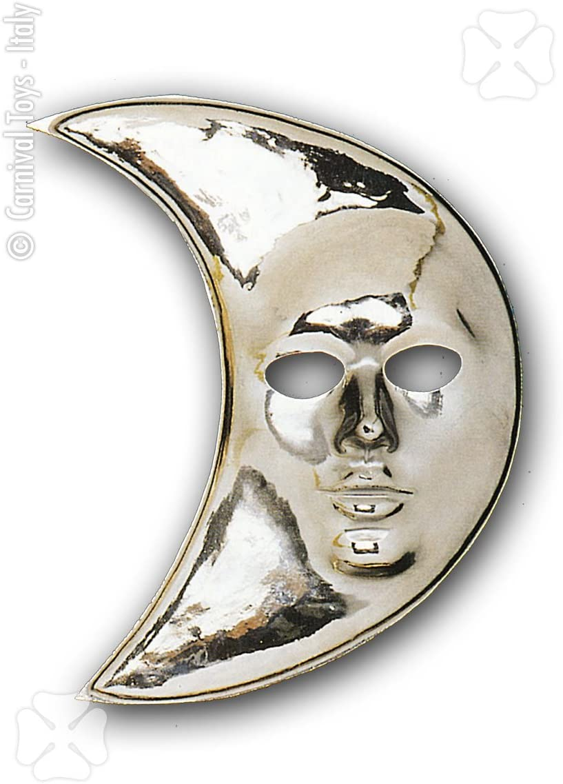 Maschera viso LUNA ARGENTO maschera maschera LUNA MEZZALUNA ARGENTO MASCHERA CARNEVALE MASCHERA