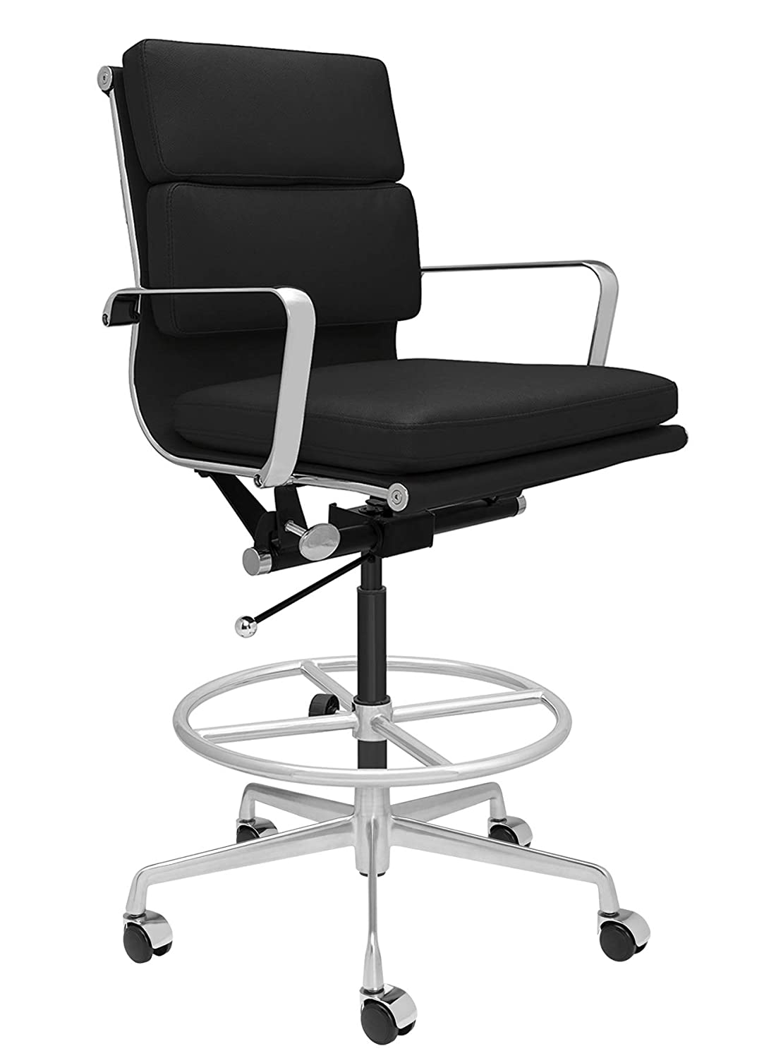 Ergonomically Designed and Commercial Grade Draft Height for Standing Desks White SOHO Soft Pad Drafting Chair