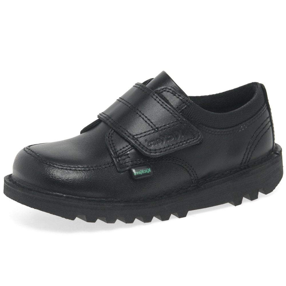 Kickers Kick Scuff Lo I Black Leather 12 M US Little Kid