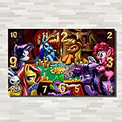 My Little Pony 17'' x 11'' Handmade unique Wall Clock - Get unique décor for home or office – Best gift ideas for kids, friends, parents