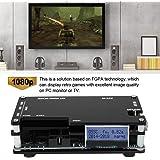 HDMI to Scart コンバータ ビデオオーディオアダプタボックス PC上のビデオスケーラ サポート古いゲーム機 sfc/md/ps/ss / ps2 / xbox/wii 3.5 mm AUXジャックおよび同軸オーディオ出力用 1080 P画質のテレビ
