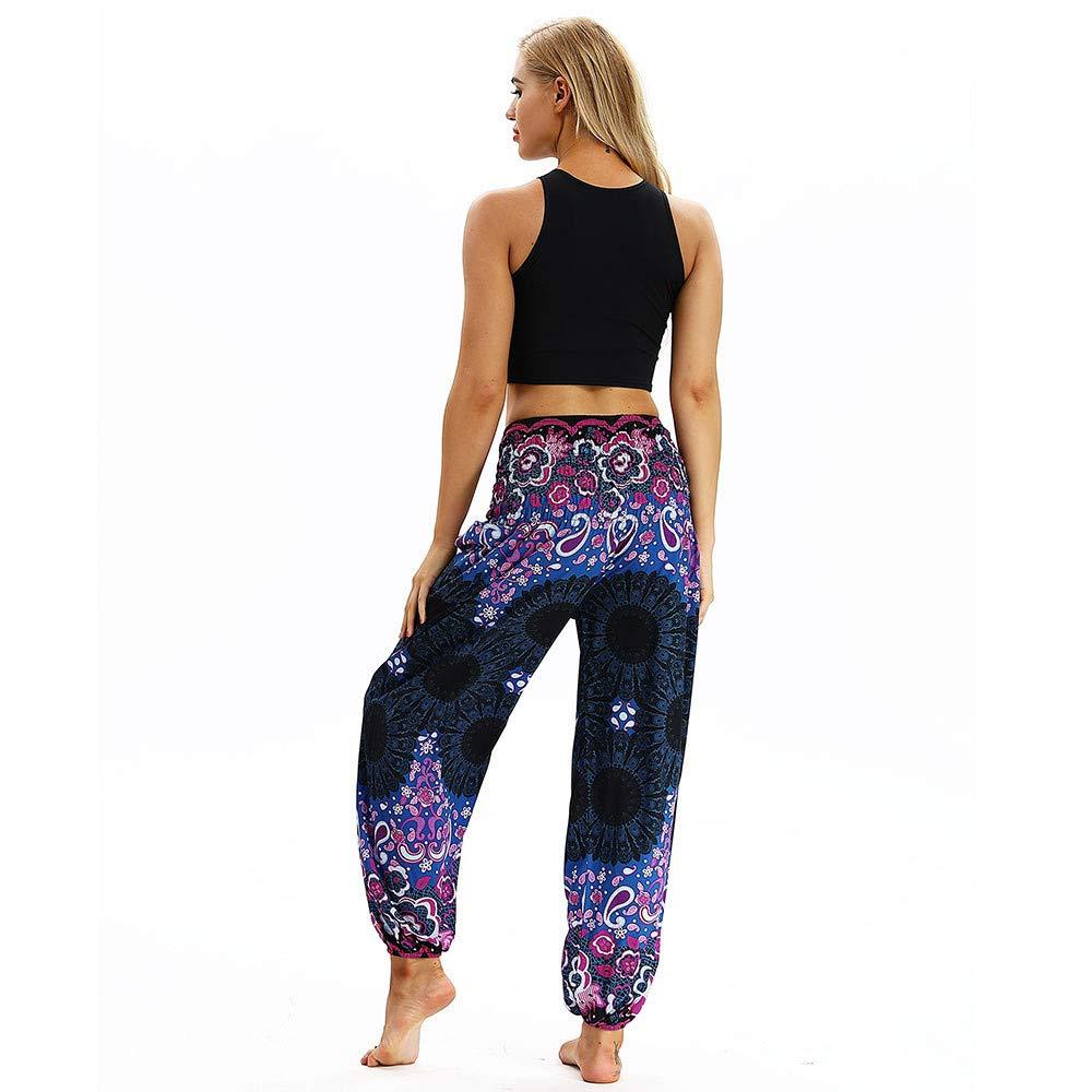 Rcool Pantaloni Donna Larghi Harem Pantaloni Stampa stellare Boho Aladin Sbuffo Pantaloni Pump Baggy Pantaloni Yoga Donna 6 Colore Taglia Unica