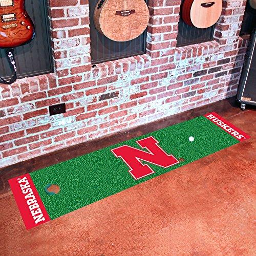 FANMATS NCAA University of Nebraska Cornhuskers Nylon Face Putting Green Mat