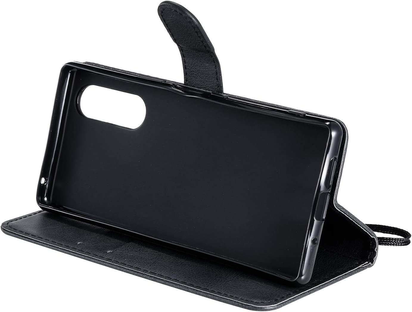 LOKTU100466 Rot Schutzh/ülle Brieftasche mit Kartenfach Klappbar Magnetisch Sto/ßfest Handyh/ülle Case f/ür Sony Xperia 5 Lomogo Sony Xperia 5 H/ülle Leder