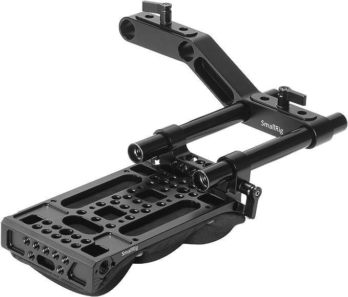 MOSHUSO 15mm Rod Clamp Z-Shape Offset Raiser for DSLR Shoulder Support with Rotable Screws Black