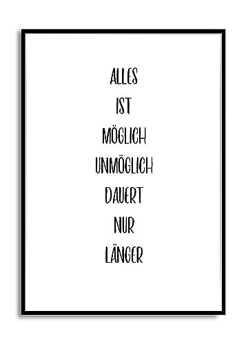 Kunstdruck Wand Bild Mit Spruch Alles Ist Moglich Poster Print
