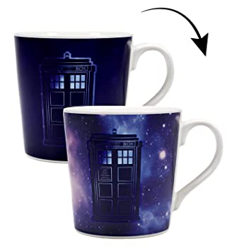 DR WHO TARDIS AND DALEK COLOUR CHANGING MAGIC SET OF 2 DRINKING GLASSES TUMBLERS