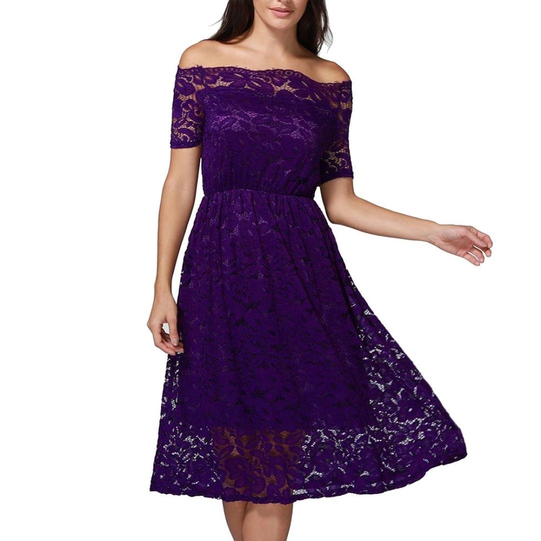 Kleid Damen Sommer,Freizeitkleider Abendkleider Blusenkleider ...