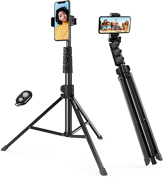 LETSCOM 67-inch Extendable Selfie Stick Tripod Stand