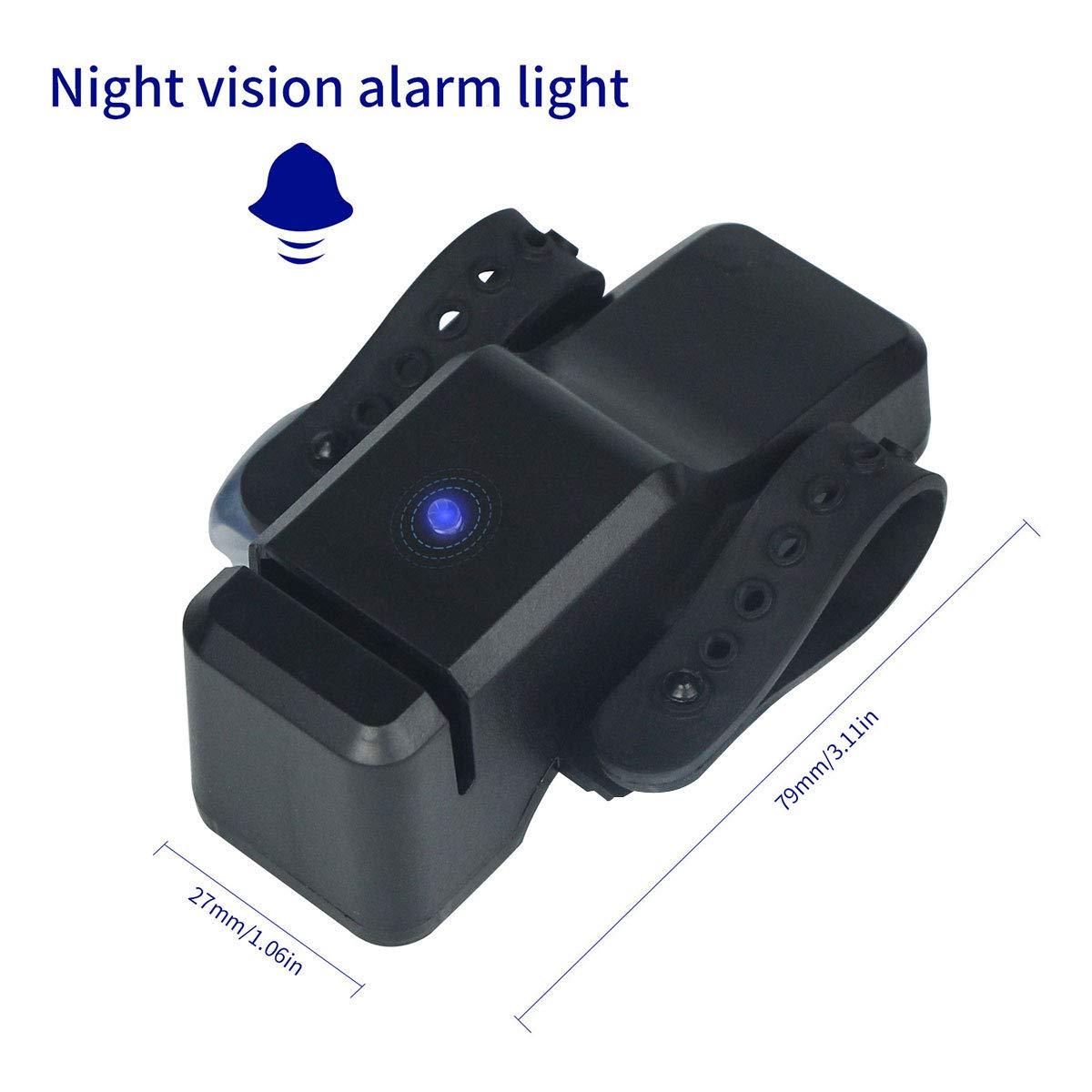 Alarma de mordedura de pesca, OXOQO Indicador electrónico de alarma de mordedura de pesca de alta sensibilidad portátil con correa ajustable Alarma de ...