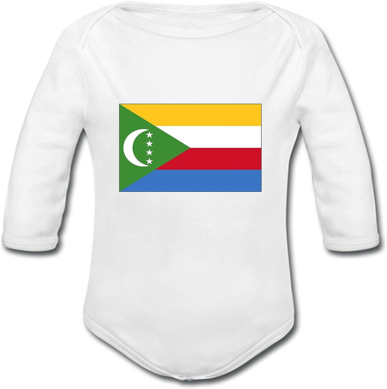 YONACREA Body B/éb/é Manches Longues Drapeau Comores