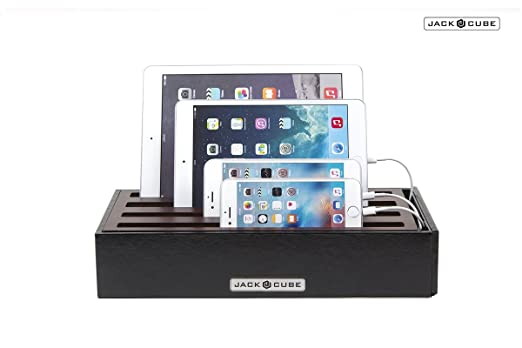 jack cube universal multi device cord organizer stand usb charger cable charging station hub management for