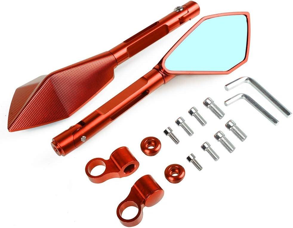 NO LOGO FSM-Espejos de revisi/ón Color : Gris 2pcs For Yamaha MT01 MT03 MT07 MT25 MT03 MT07 MT25 MT01 MT10 MT10 CNC De Aluminio Espejo Retrovisor Trasero De La Motocicleta Espejos Laterales