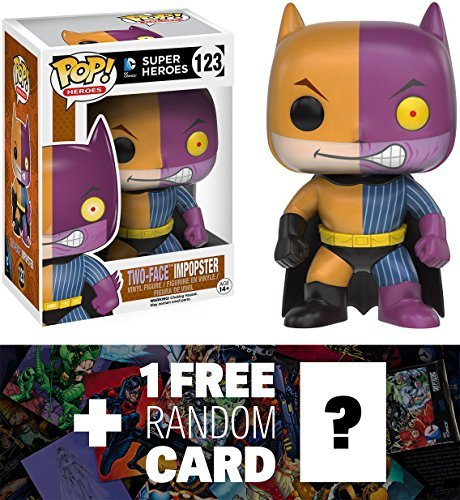 Two-Face / Batman Imposter: Funko POP! x DC Universe Vinyl Figure + 1 FREE Official DC Trading Card Bundle -