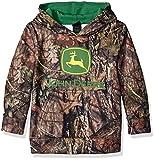 John Deere Tractor Little Boys' Mossy Oak Camo Fleece Hoody Poly Sweatshirt, Mossy Oak Breakup/Country, 7