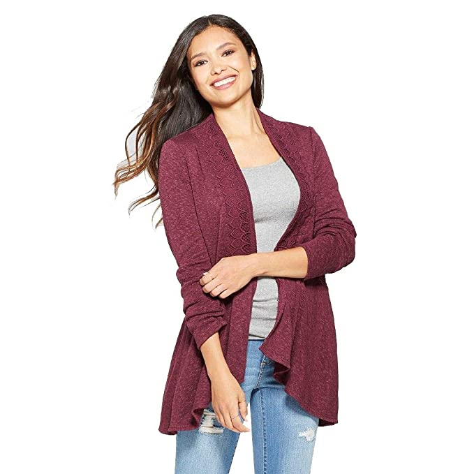 purchase authentic sale usa online clearance Knox Rose Women's Long Sleeve Scallop Trim Open Layering ...