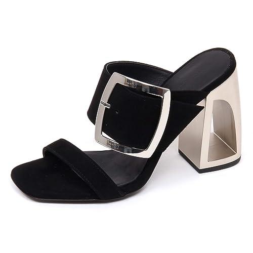 Vic Matie E9530 Sandalo Donna Black LONGISLAND Scarpe Suede Sandal Shoe  Woman  Amazon.it  Scarpe e borse 4a0b790ef72