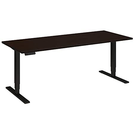 Move 80 Series 72W Height Adjustable Standing Desk in Mocha Cherry with Black Base
