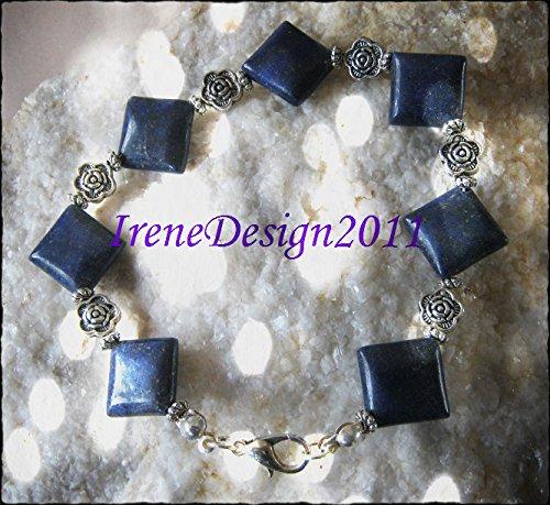 Lapis Lazuli & Rose Bracelet