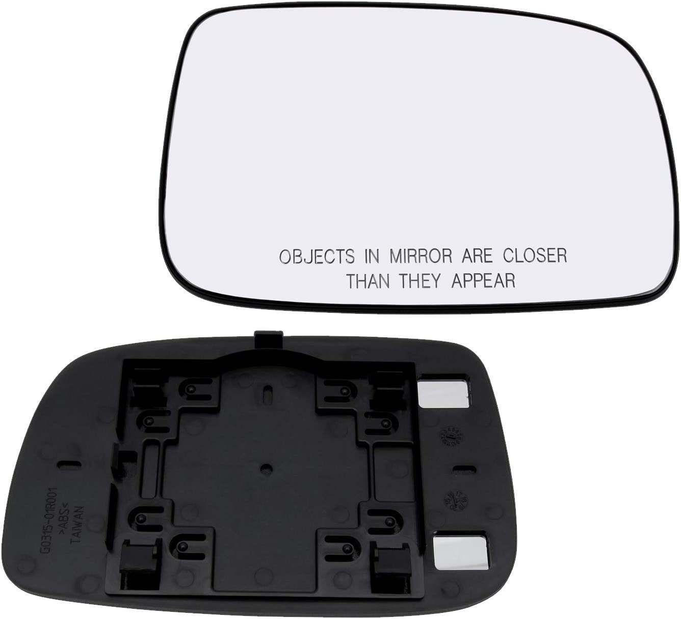 New Replacement Driver Side Mirror Glass W Backing Compatible With 2007-2012 Toyota Camry Sold By Rugged TUFF