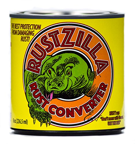 RUSTZILLA 856557004226 Rust Converter and Remover, Professional Strength for All Metals Including Stainless Steel, Steel, Cast-Iron, 32 oz.