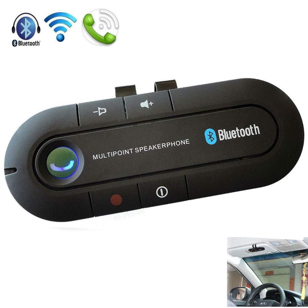 Drive Hands-free wireless Bluetooth vivavoce per auto kit per smartphone dispositivi BT13 (nero) … JUNEO