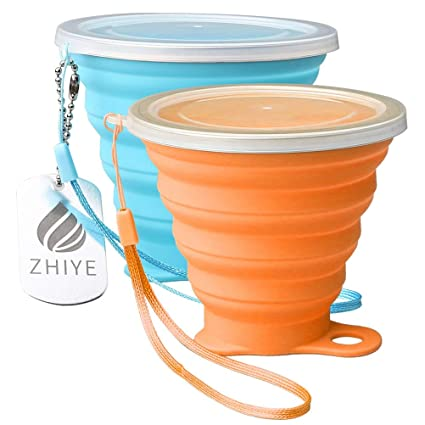 Hiking Mug 9 Silicone LidBpa Free Water With Zhiye 2 Collapsible Folding Retractable Portable Camping Unbreakable 5 Cup MugOutdoor Oz Travel Packs OPkiZuXT