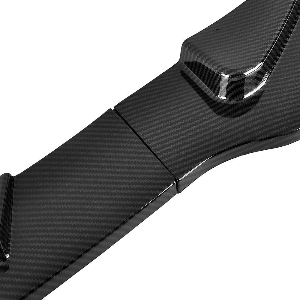 Carbon Fiber MotorFansClub 3pcs Front Bumper Lip for Infiniti Q50 2014-2017 Base Model Splitter Trim Protection Spoiler