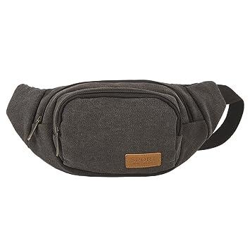 Men Fanny Canvas Hiking Waist Pack Travel Crossbody Chest Backpack Shoulder Bags