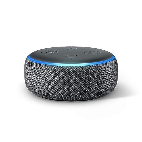 Echo Dot 3 ª generación Altavoz inteligente con Alexa tela de color antracita