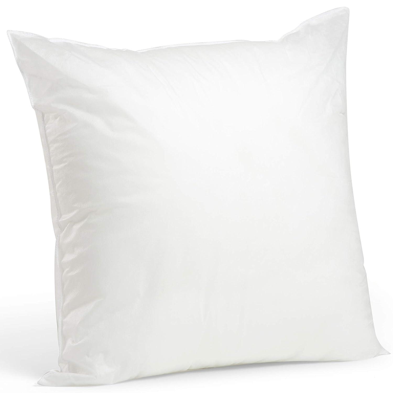"Foamily Premium Hypoallergenic Stuffer Pillow Insert Sham Square Form Polyester, 28"" L X 28"" W, Standard/White"