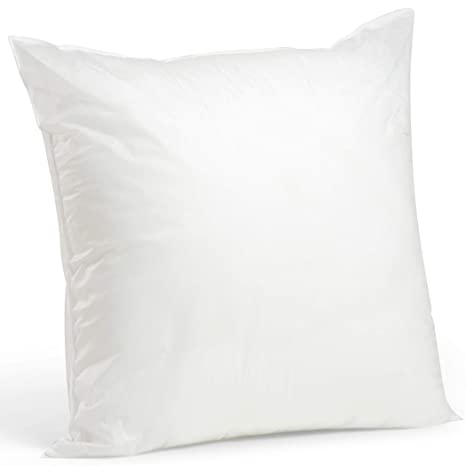 "Foamily Premium Hypoallergenic Stuffer Pillow Insert Sham Square Form Polyester, 28"" L X 28"" W, Standard/White by Foamily"