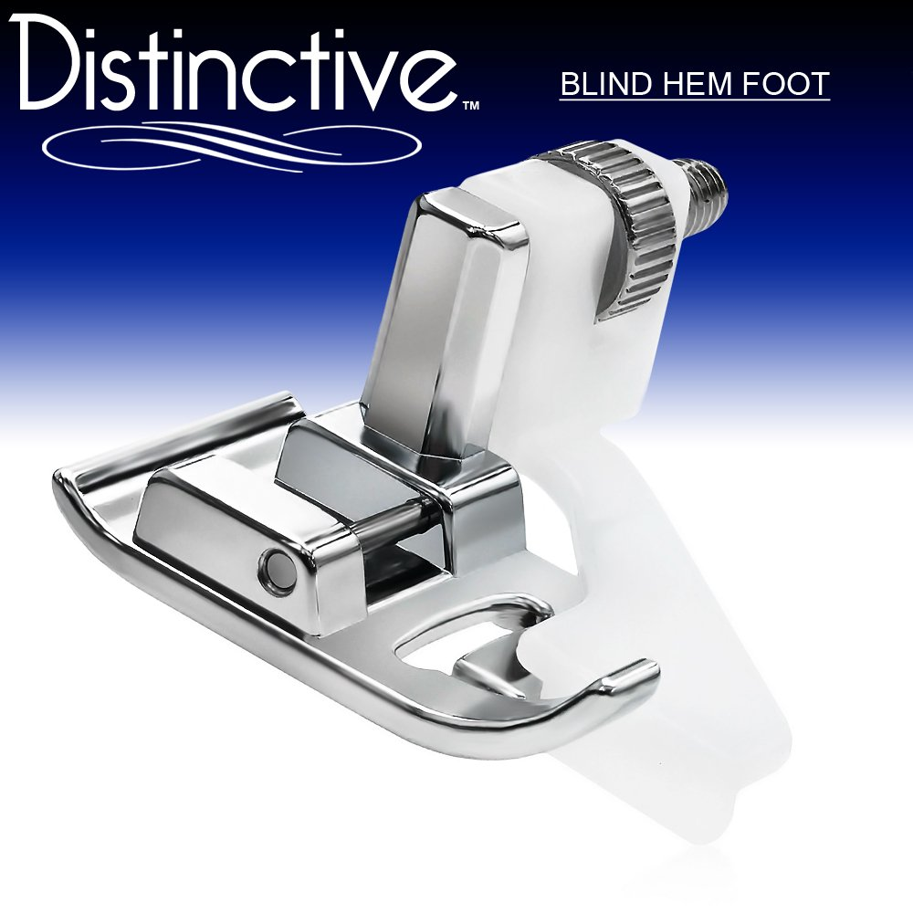 Simplicity Euro-Pro Elna and More! New Home Brother Juki White Babylock Janome Distinctive Blind Hem Sewing Machine Presser Foot Kenmore Fits All Low Shank Snap-On Singer*