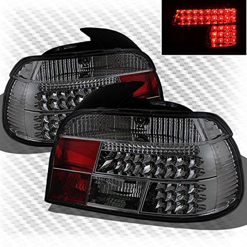 Xtune Smoked 1997-2000 BMW E39 5-Series LED Tail Lights Smoke Brake Lamp New Set Pair Left+Right 1997 1998 1999