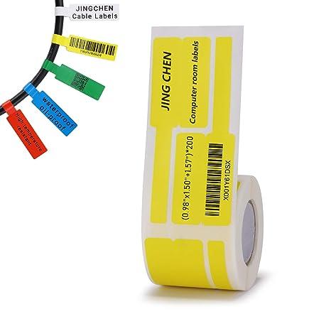 Amazon.com: JINGCHEN - Papel de etiquetas para cable: Office ...