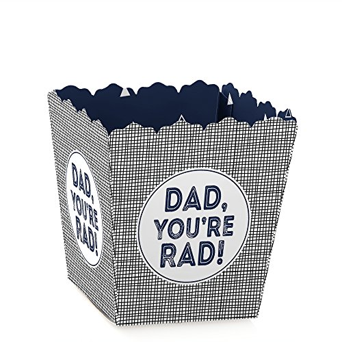 - My Dad is Rad - Party Mini Favor Boxes - Father's Day Party Treat Candy Boxes - Set of 12