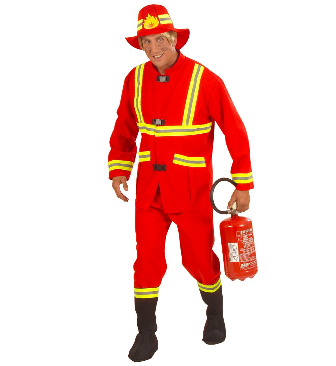 Kostüm Karneval Herren Anzug Feuerwehrmann  22830, mehrfarbig L