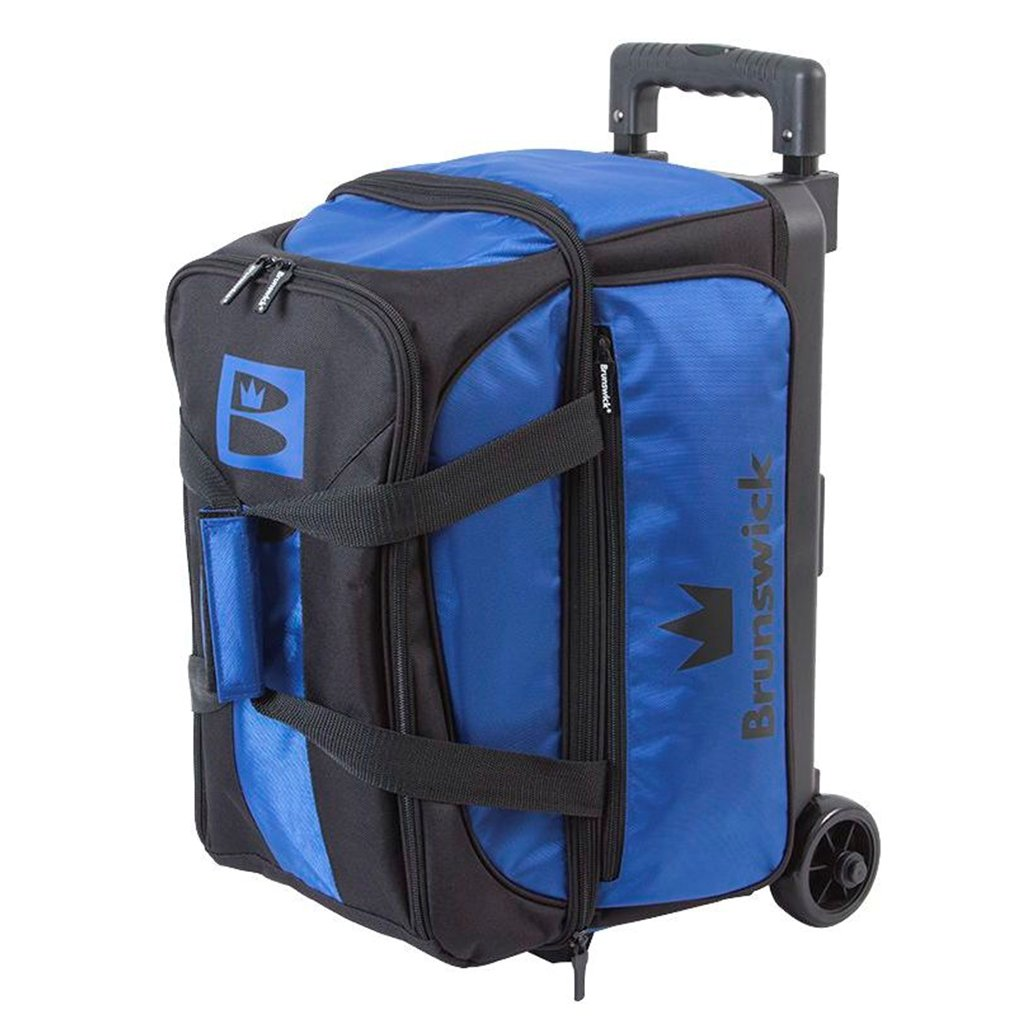 Brunswick Blitz Double Roller Bowling Bag, Blue by Brunswick