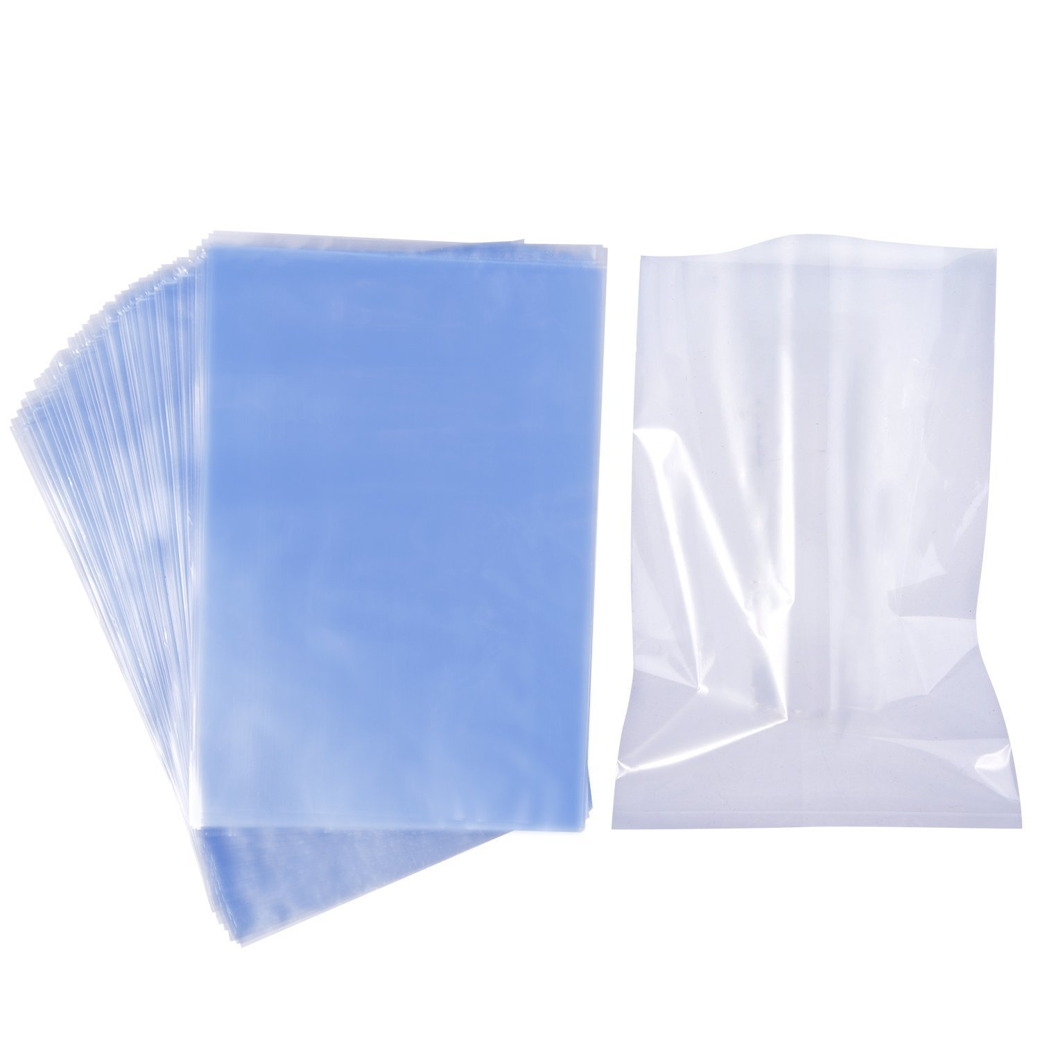 Shrink Wrap Bags 100 PCS Heat Shrink Bag 9x14 Inch and 100 Gauge for Wrapping Bath Bombs, Soaps, Oil And Homemade Gifts