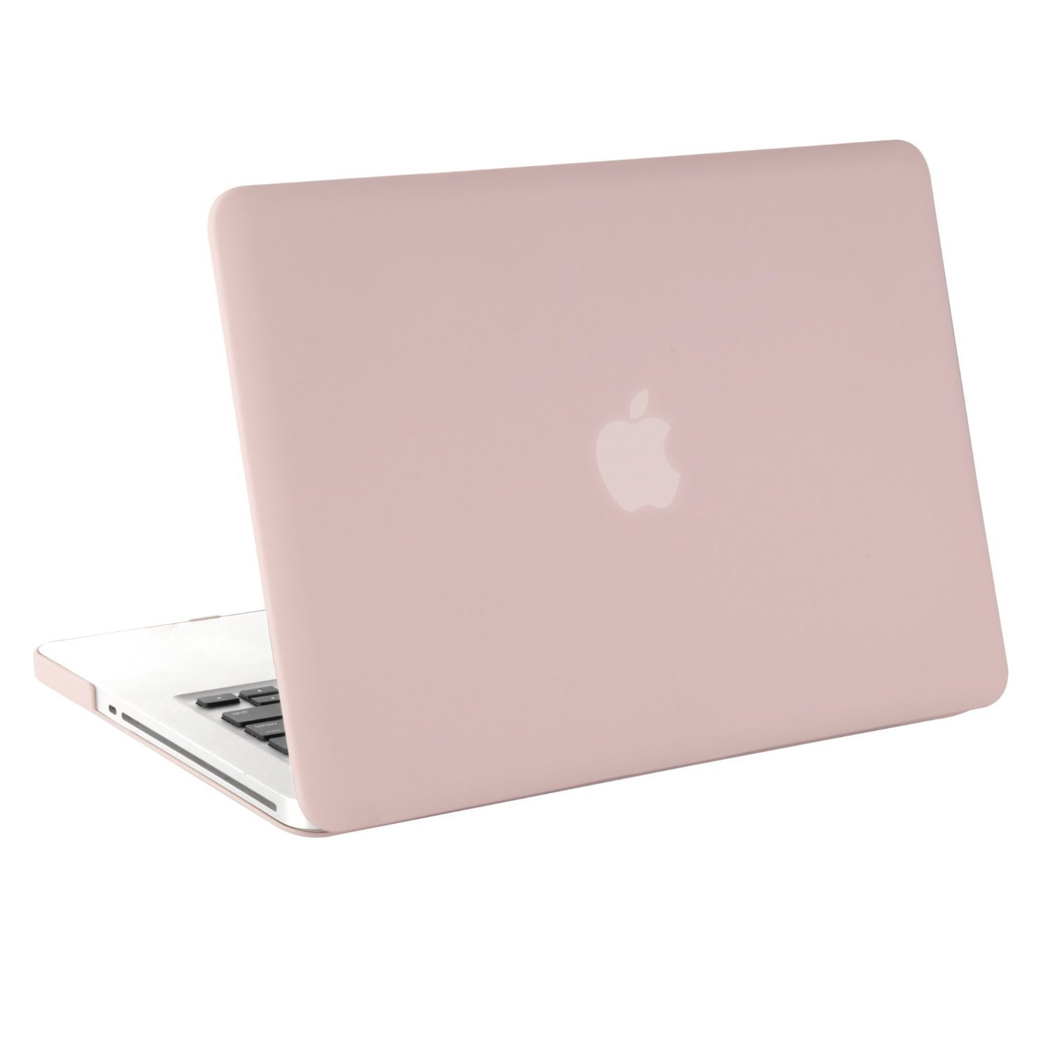 MOSISO Plastic Hard Shell Case Cover Only Compatible Old MacBook Pro 13 inch (A1278 CD-ROM), Release Early 2012/2011/2010/2009/2008, Rose Quartz by MOSISO (Image #4)