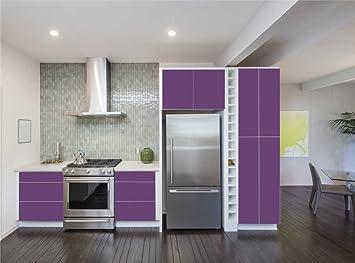 Amazon.de: INDIGOS UG - Aufkleber für Küchenschränke 63x500cm - MATT ...