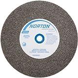 Norton Gemini Bench and Pedestal Grinding Wheel, Type 01, Round Hole, Aluminum Oxide