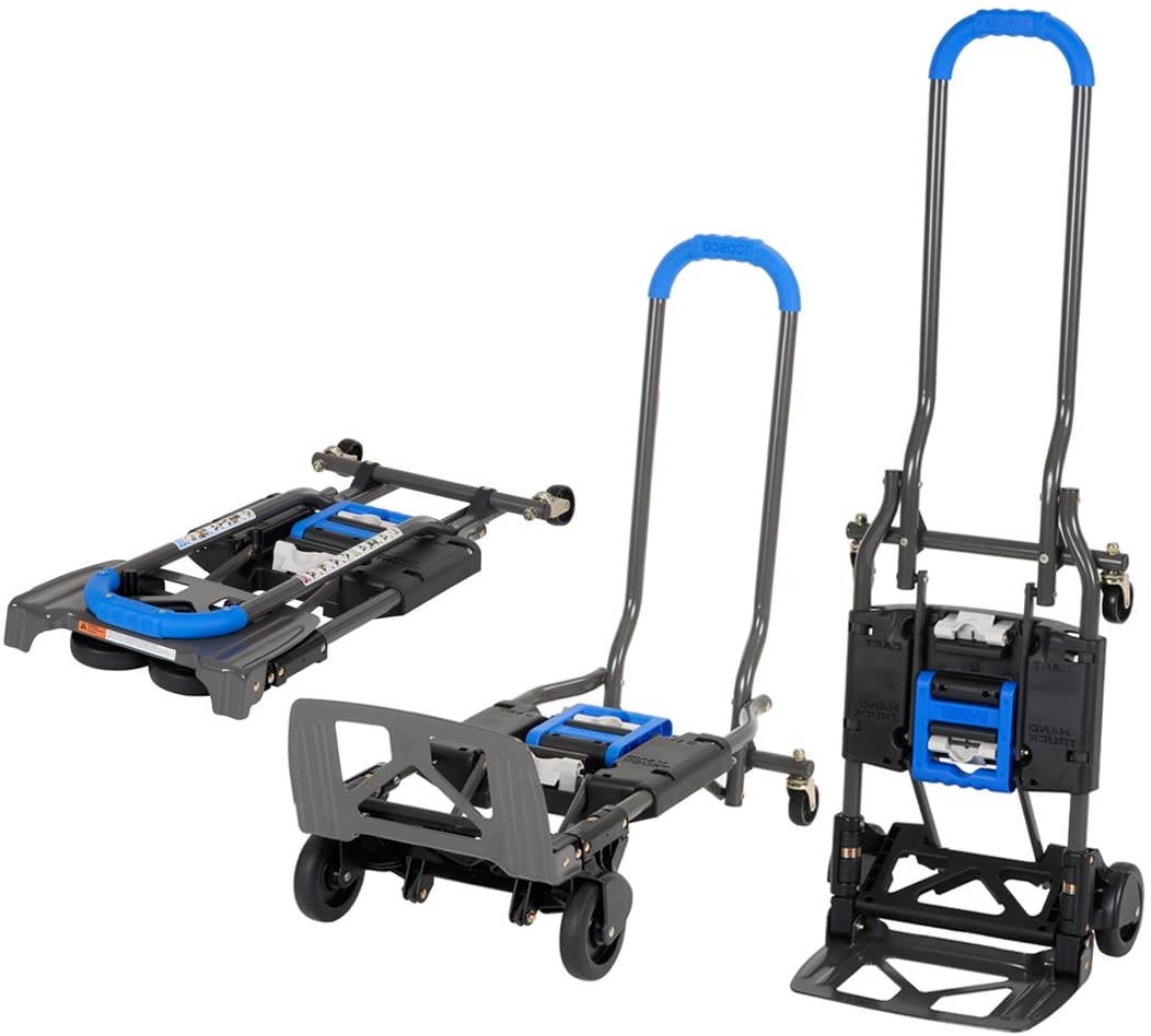 Cosco 12222BG1UE Shifter, Carretilla de Mano 135kg Plegable de Multiples Posiciones para Trabajos Pesados, Azul