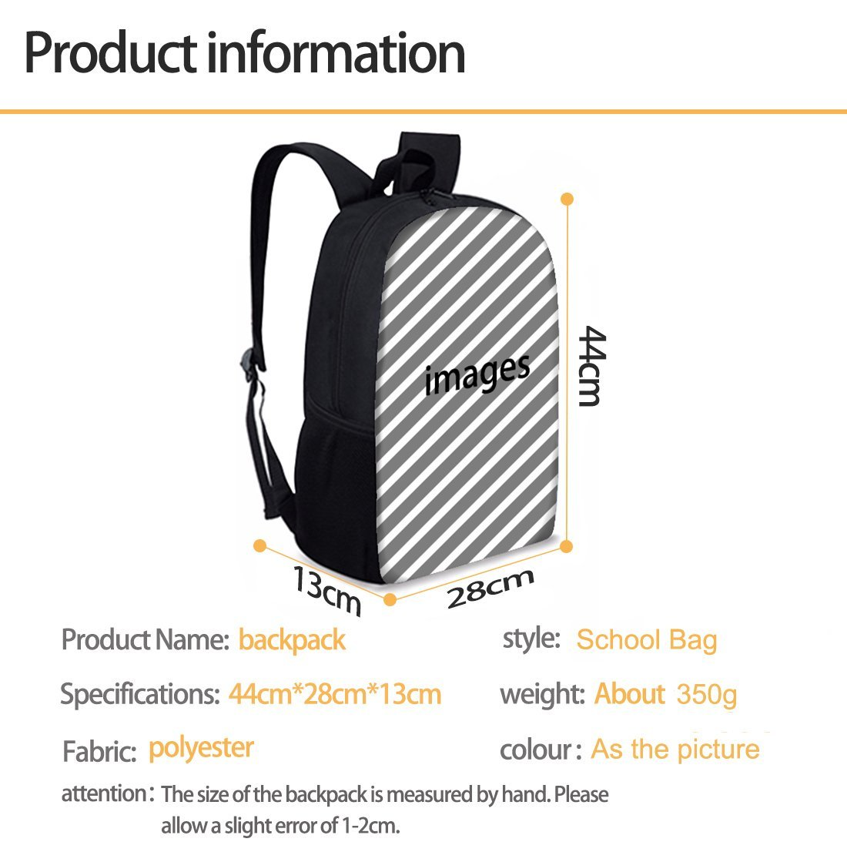 Bigcardesigns Deep Sea Animal Shark Backpack Blue School Bag for Boys Girls Fashion Knapsack by Bigcardesigns (Image #2)