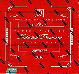 2016 Panini National Treasures NASCAR Racing box (7 cards)