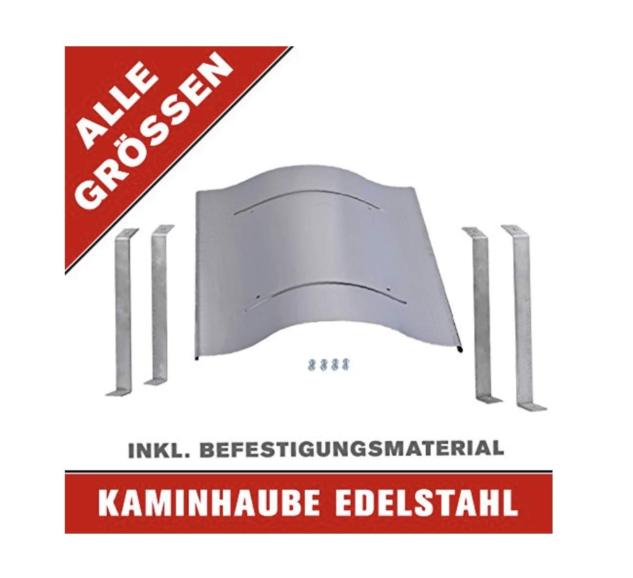 Nischenmarkt Massive Schornsteinabdeckung in Edelstahl 700 x 800 mm