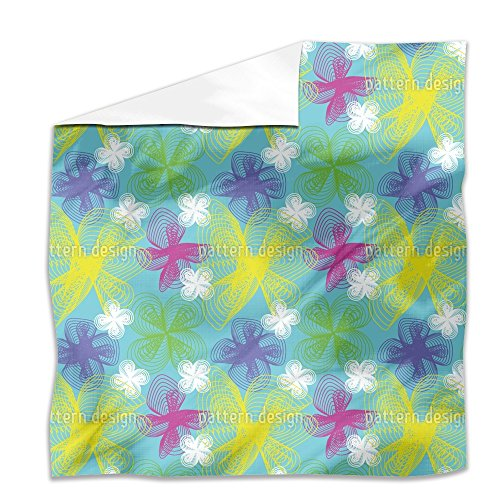 Spiral Flowers Flat Sheet: King Luxury Microfiber, Soft, Breathable by uneekee