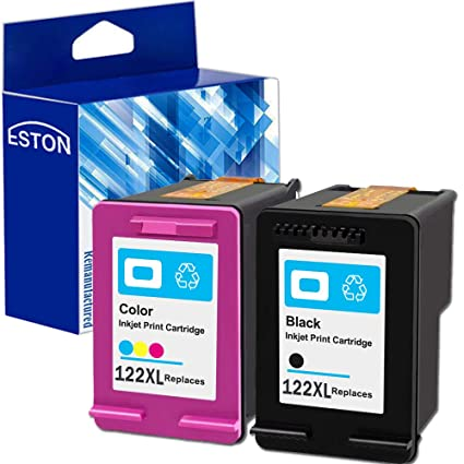 Eston 2 Pack # 122 XL negro/de tinta de color para HP ...