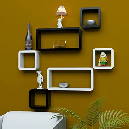 SANTOSHA D??COR Shelf Cube Rectangle Designer Wall Rack and Shelves ...
