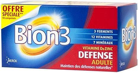 Bion 3 Adultes Activateur De Sante Complement Vitaminique Tres Complet Avec Probiotiques Boite De 90 Cps Amazon Fr Hygiasne Et Soins Du Corps